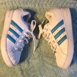 2005 adidas Superstar 3 Blue Stripes Sneakers 7.5